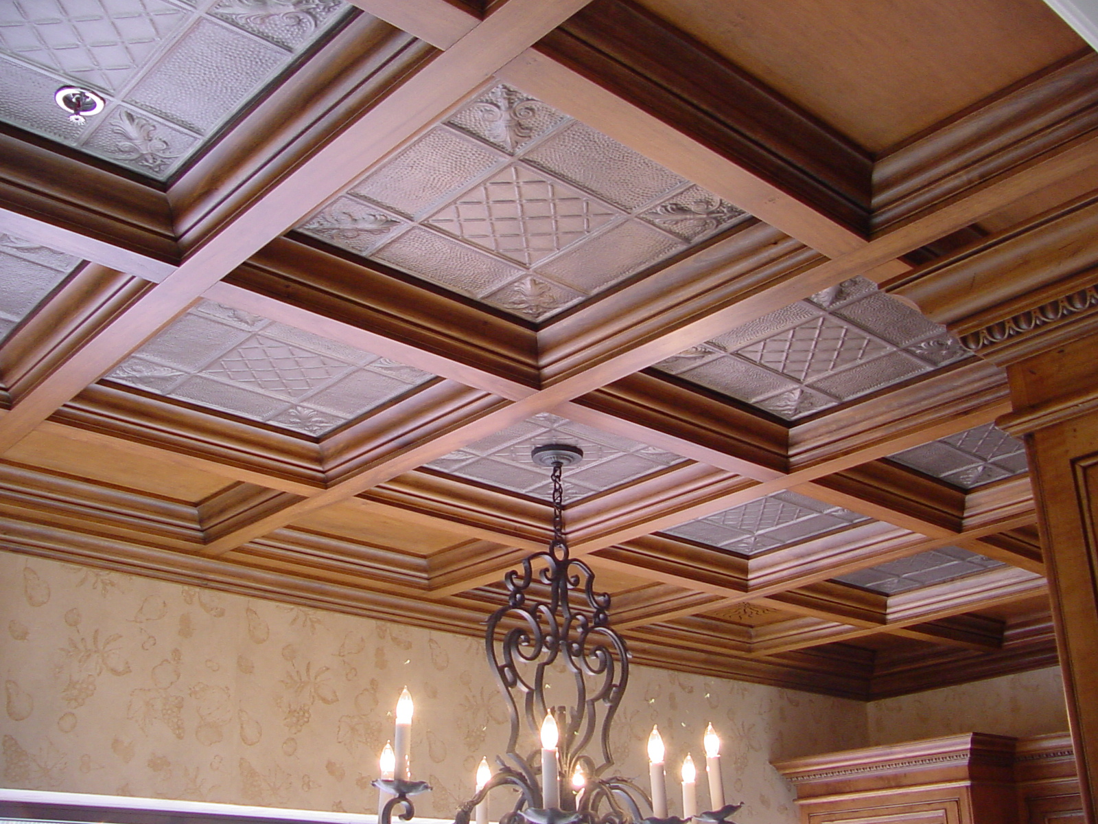 Coffered ceiling styles of woodgrid for Coffered ceiling styles