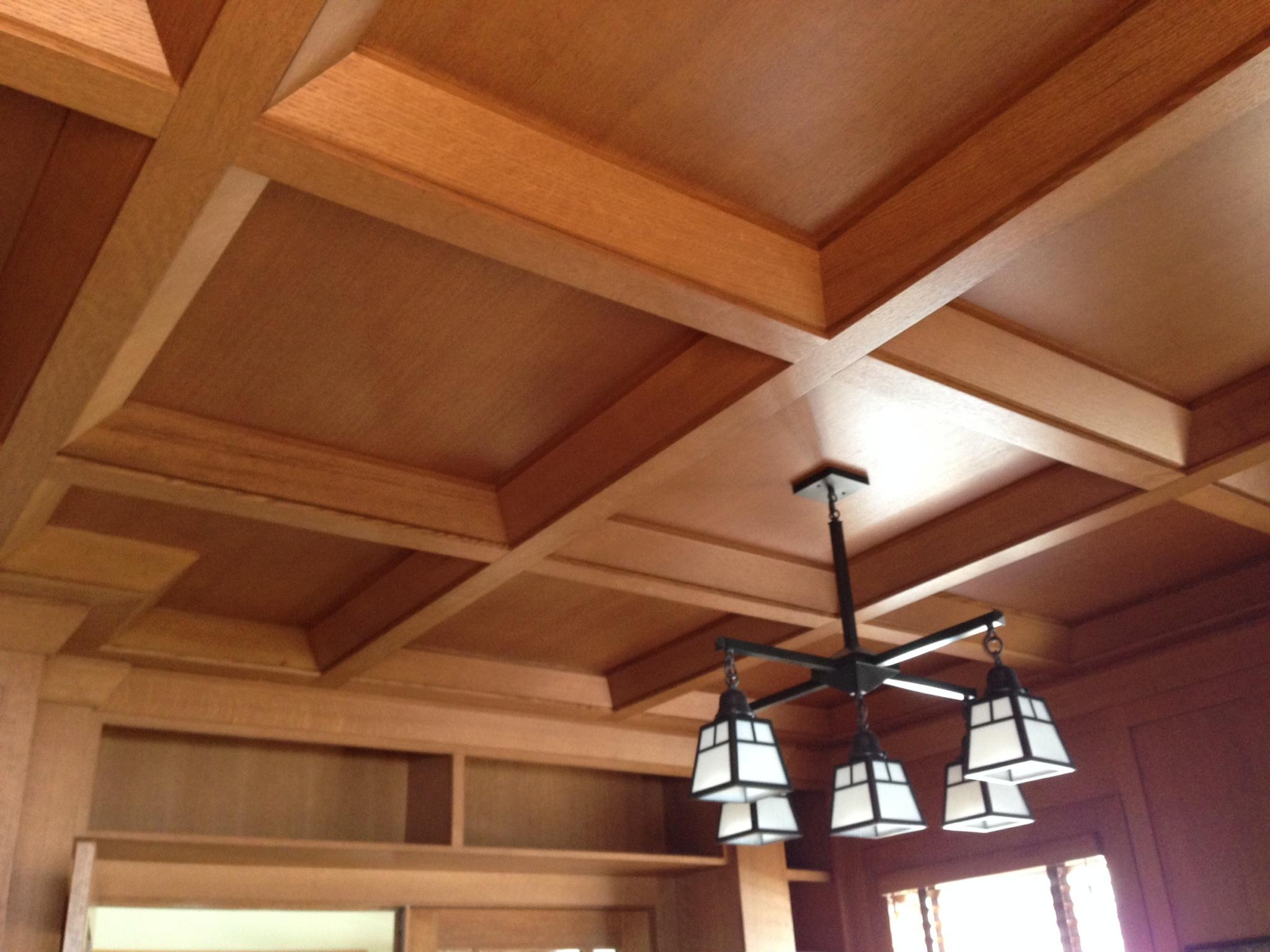 Coffered ceilings wood suspended drop ceiling systems for Coffered ceiling styles