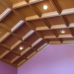 Coffers for Angled Cathedral Ceiling