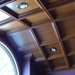 Cathedral Ceiling with Medium Coffer in Cherry