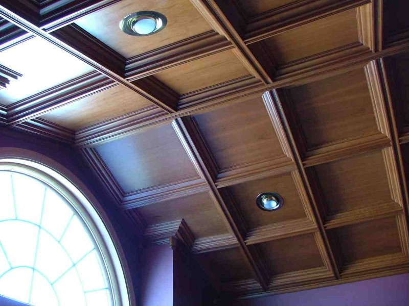 Photos of coffered ceilings for Coffered cathedral ceiling