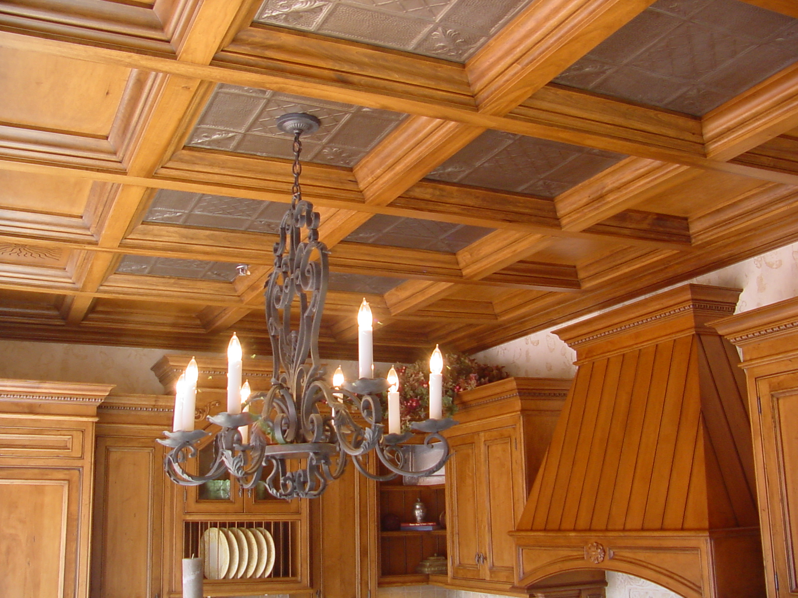 Deep coffered ceiling with tin woodgrid coffered ceilings by deep coffered ceiling with tin dailygadgetfo Choice Image