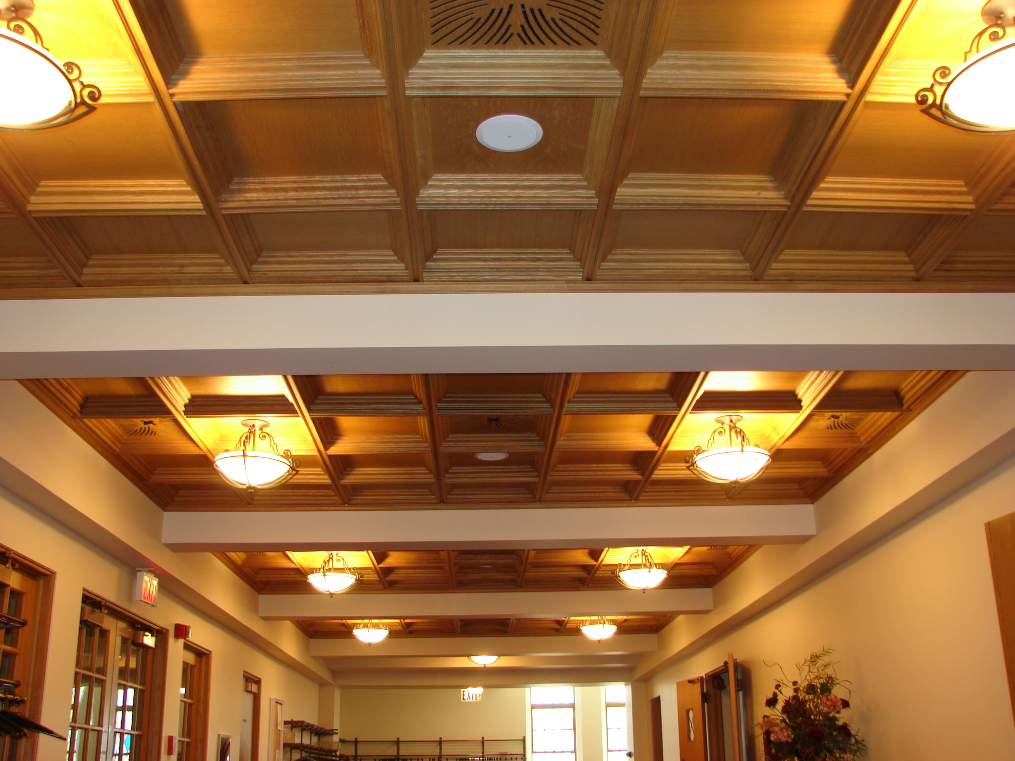 Wood Coffered Ceiling With Soffits