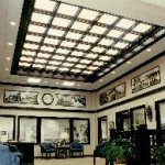 Bank Lobby with Lighted Coffered Ceiling