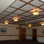 wood suspended ceiling