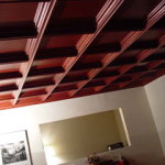 coffered ceiling with modern look