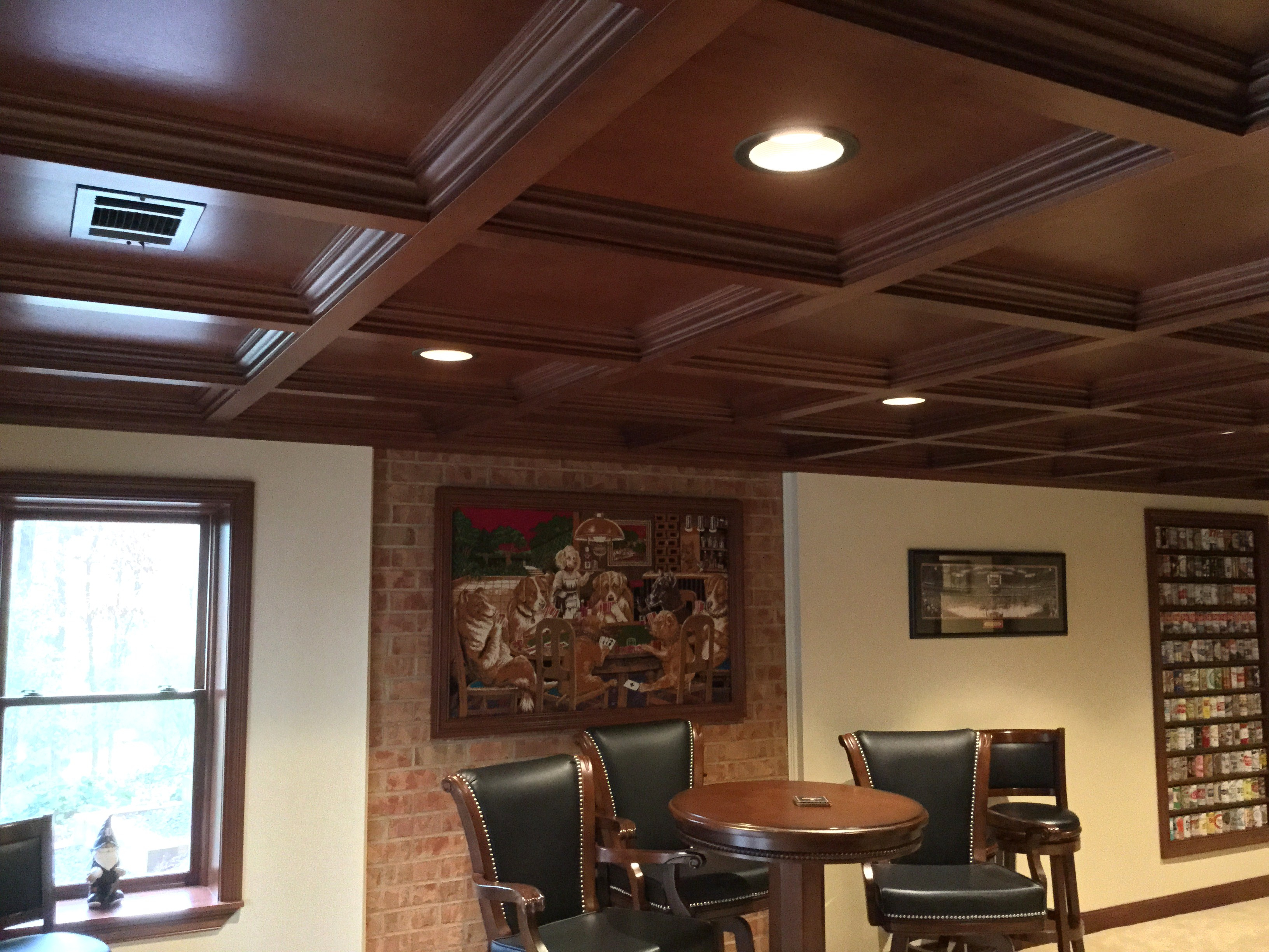 Basements Bars Game Woodgrid 174 Coffered Ceilings By