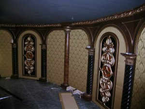 wall panels with lighting behind