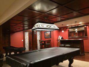 WoodGrid Flat panel ceiling design