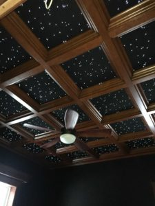 WoodGrid Coffered Ceiling in Cherry Deep Coffer with special back