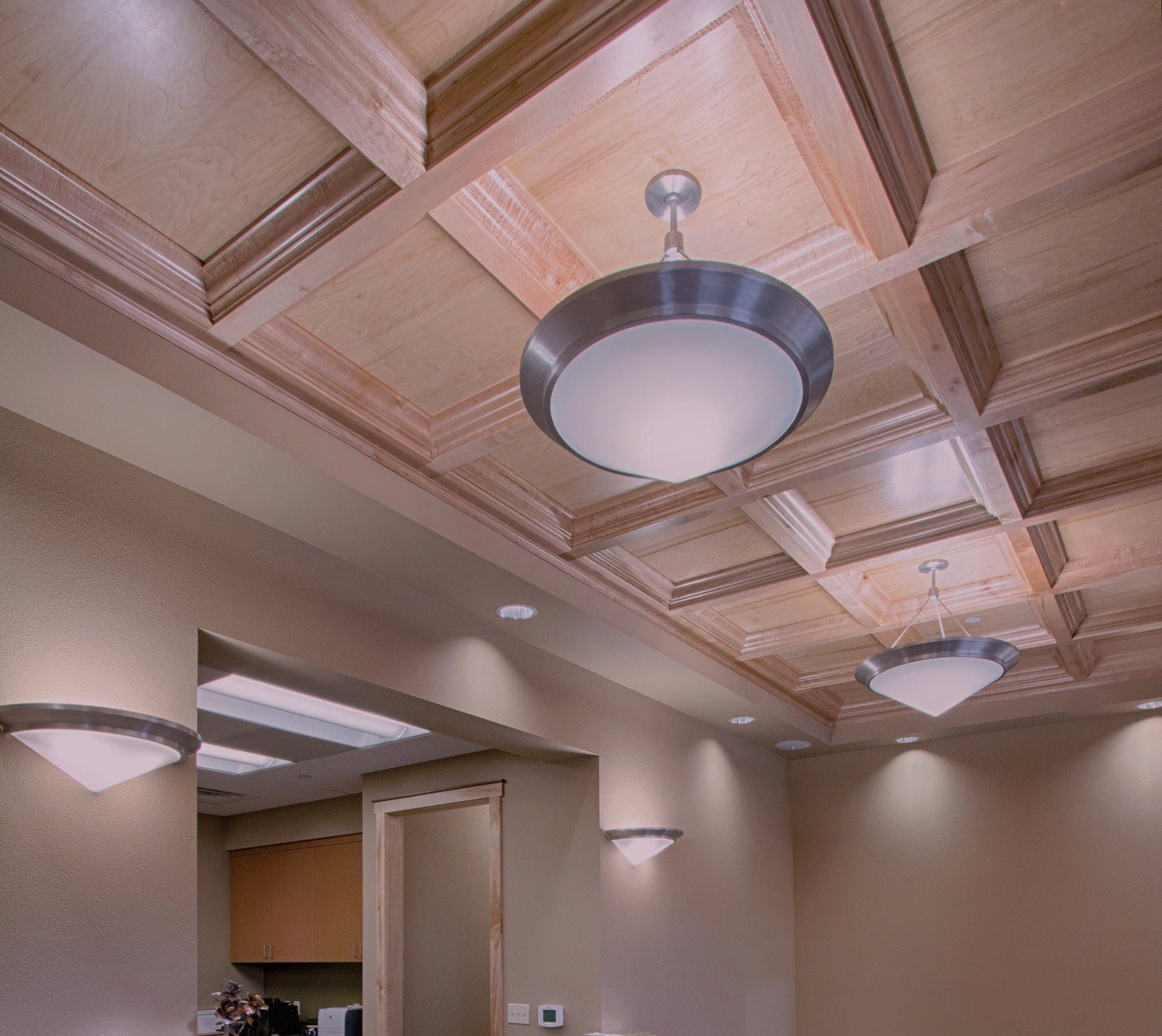 coffer lighting. Deep Coffer In Soft Maple With Clear Finish Lighting T